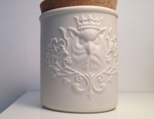 Owl Canister with cork